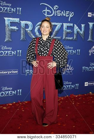 Erika Christensen at the World premiere of Disney's 'Frozen 2' held at the Dolby Theatre in Hollywood, USA on November 7, 2019.