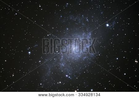 The Triangulum Galaxy (m33) In The Constellation Or Triangulum, As Seen From Cornwall, Uk