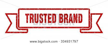Trusted Brand Grunge Ribbon. Trusted Brand Sign. Trusted Brand Banner