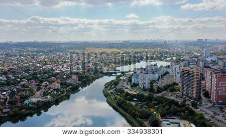 Rostov-on-don, Russia, October 02 2019: Rostov-on-don Aerial View. Panorama Of The City Of Rostov On
