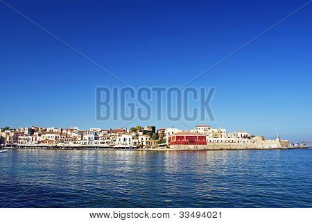 The Venetian Harbour Of Chania.