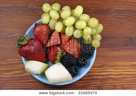 Assorted Fruits On A Plate