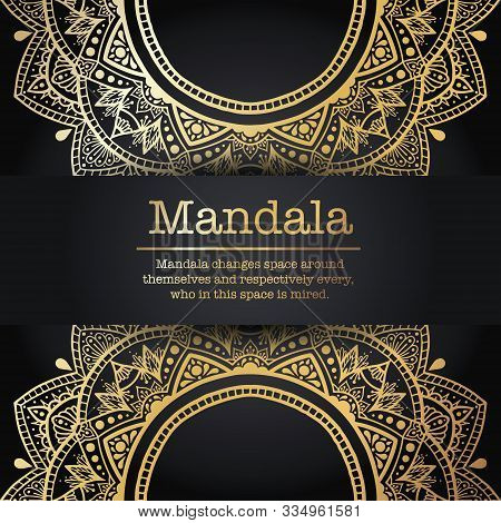 Vintage Vector Handmade Round Mandala Elements. Luxury Festive Background. Postcards Or Invitations