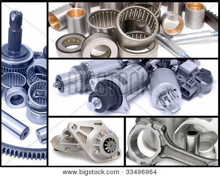 Auto Car Parts, Collage