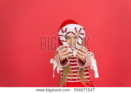Christmas Decor. Striped Candy Cane Traditional For Winter Holidays. Her Favorite Season. Christmas