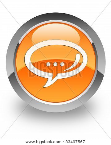 Chat glossy icon