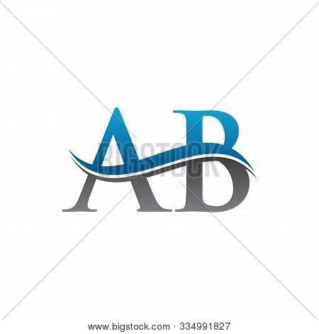 Ab Letter Type Logo Design. Ab Logo Vector Template. Creative Ab Logo. Letter Ab Logo.