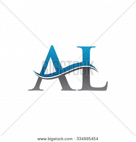 Letter Al Simple Logo Vector. Logotype Al Letter Design. Al Font Type Logo.