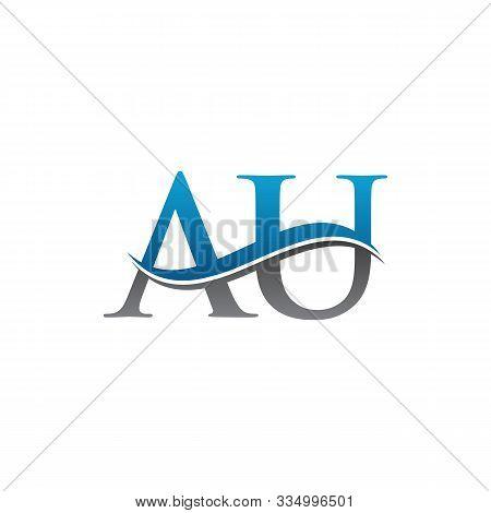 Au Letter Logo Vector Design. Au Logo Design. Au Letter, Au, Au Logo, Illustration.