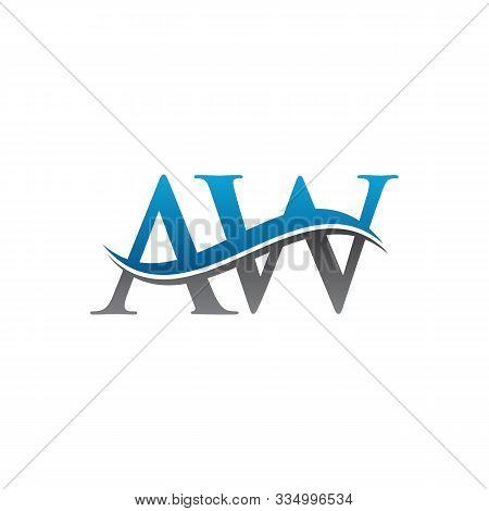 Aw Letter Type Logo Design. Aw Logo Vector Template. Creative Aw Logo. Letter Aw Logo.
