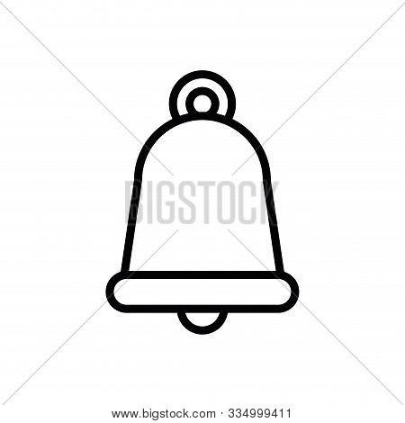 Bell Design, Ring Alert Alarm Call Jingle Sound Doorbell And Music Theme Vector Illustration