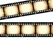 Film strip with grunge effect from a series in my portfolio. poster
