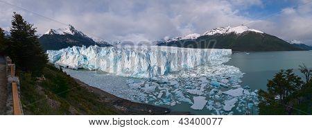 Perito Moreno Glacier In Argentina Panorama