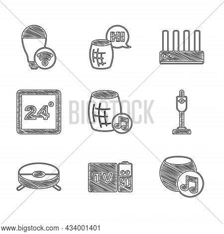 Set Voice Assistant, Multimedia And Tv Box Receiver, Vacuum Cleaner, Robot Vacuum, Thermostat, Route