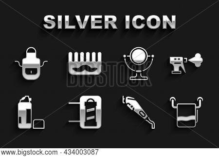 Set Barber Shop Pole, Hairdresser Pistol Spray Bottle, Towel On Hanger, Electrical Hair Clipper, Sha