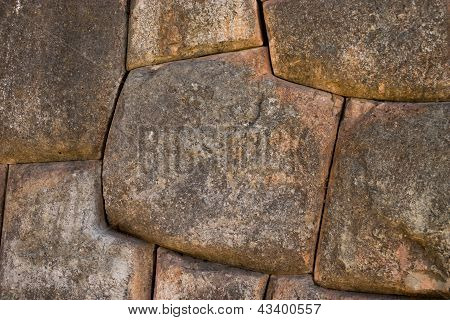 Detail Of Stones At Sacsayhuaman