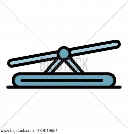 Dog Balance Bar Icon. Outline Dog Balance Bar Vector Icon Color Flat Isolated