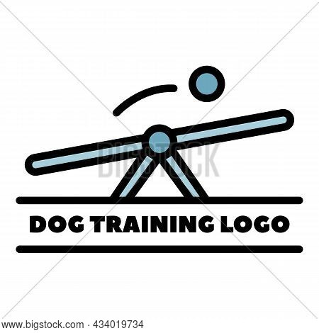 Swing For Dog Training Icon. Outline Swing For Dog Training Vector Icon Color Flat Isolated