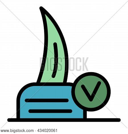 Cat Claw Icon. Outline Cat Claw Vector Icon Color Flat Isolated
