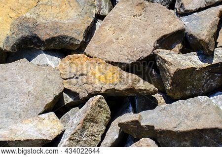 Stones. Cracks In The Rock. Stone Texture.