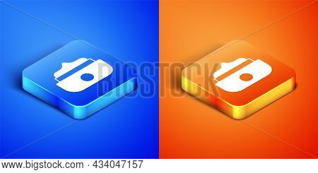 Isometric Gel Or Wax For Hair Styling Icon Isolated On Blue And Orange Background. Hair Cosmetic. Ja