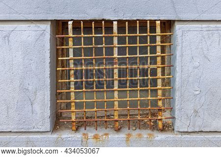 Rusty Bars From Rebar Metal Window Protection Safety