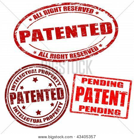 Set Of Patented Stamps