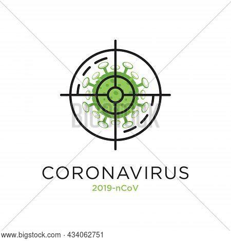 Corona Virus Target, Vector Illustration Of Corona Virus In Wuhan, Corona Virus Infection. New Coron