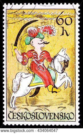 Czechoslovakia - Circa 1972: A Stamp Printed In Czechoslovakia, Shows Janissary