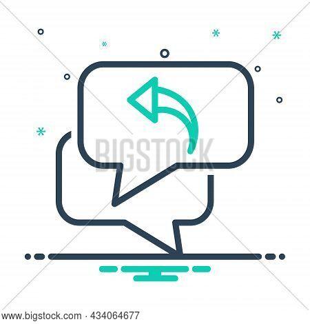 Mix Icon For Respond Response Repercussion Acknowledge Answer Communication Interchange Bubble Messa
