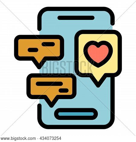 Smartphone Interaction Icon. Outline Smartphone Interaction Vector Icon Color Flat Isolated