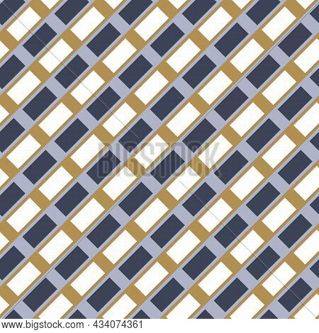 Masculine Diagonal Gingham Flannel Seamless Vector Pattern. Classic Check Cloth Background For Digit