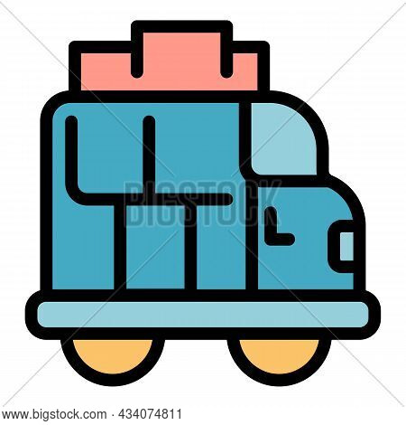 Van Roof Box Icon. Outline Van Roof Box Vector Icon Color Flat Isolated