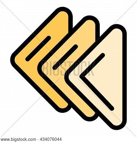 Handkerchief Icon. Outline Handkerchief Vector Icon Color Flat Isolated