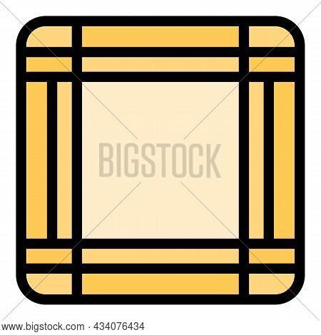 Fabric Handkerchief Icon. Outline Fabric Handkerchief Vector Icon Color Flat Isolated
