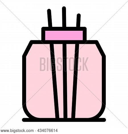 Aromatherapy Air Freshener Icon. Outline Aromatherapy Air Freshener Vector Icon Color Flat Isolated