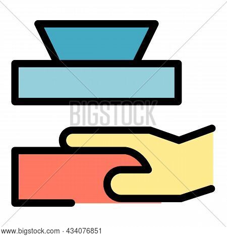 Careless Person Icon. Outline Careless Person Vector Icon Color Flat Isolated