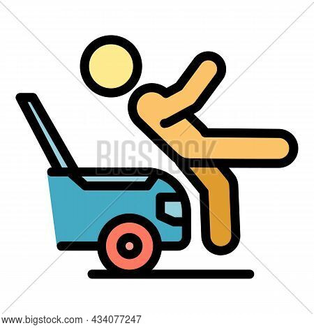 Trauma Car Accident Icon. Outline Trauma Car Accident Vector Icon Color Flat Isolated