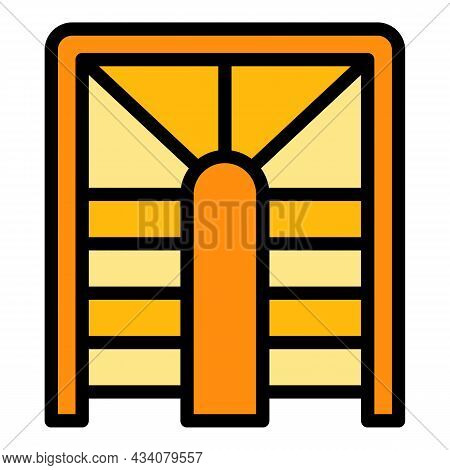 Building Staircase Icon. Outline Building Staircase Vector Icon Color Flat Isolated