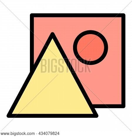 Redesign Icon. Outline Redesign Vector Icon Color Flat Isolated