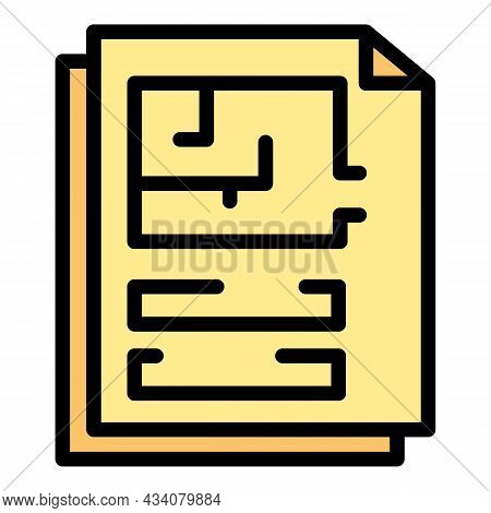 Page Redesign Icon. Outline Page Redesign Vector Icon Color Flat Isolated