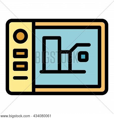 Website Redesign Icon. Outline Website Redesign Vector Icon Color Flat Isolated