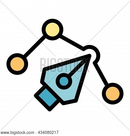 Redesign Graphic Icon. Outline Redesign Graphic Vector Icon Color Flat Isolated