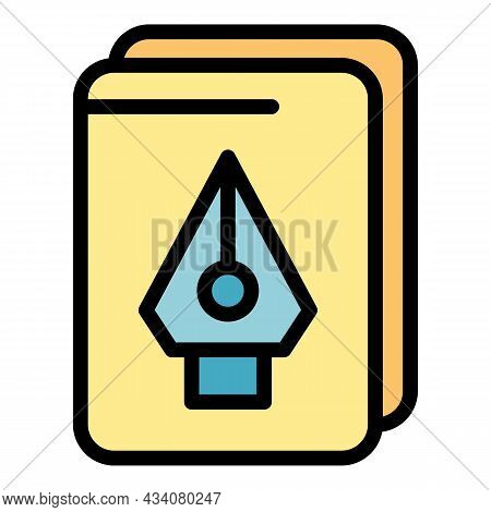 Redesign Task Icon. Outline Redesign Task Vector Icon Color Flat Isolated