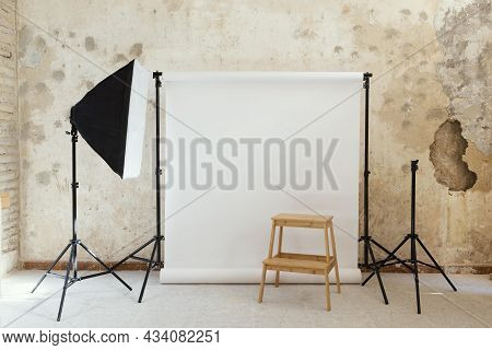 Artist Props Photography Studio. High Quality Beautiful Photo Concept