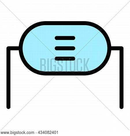 Electrical Resistor Icon. Outline Electrical Resistor Vector Icon Color Flat Isolated