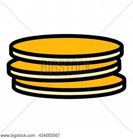 Arabic Pita Bread Icon. Outline Arabic Pita Bread Vector Icon Color Flat Isolated