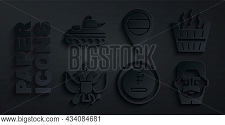 Set Rouble, Ruble Currency, Sauna Bucket, National Emblem Of Russia, Joseph Stalin, Location And Mil