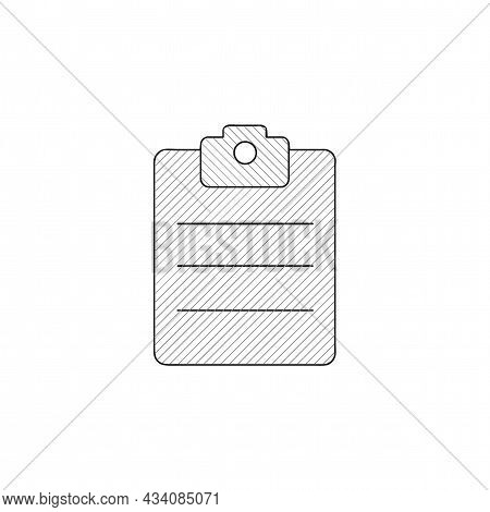 Clipboard Vector Thin Line Icon. Clipboard Hand Drawn Thin Line Icon.