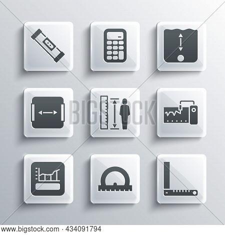 Set Protractor, Corner Ruler, Measuring Instrument, Height Body, Graph, Schedule, Chart, Diagram, Ar